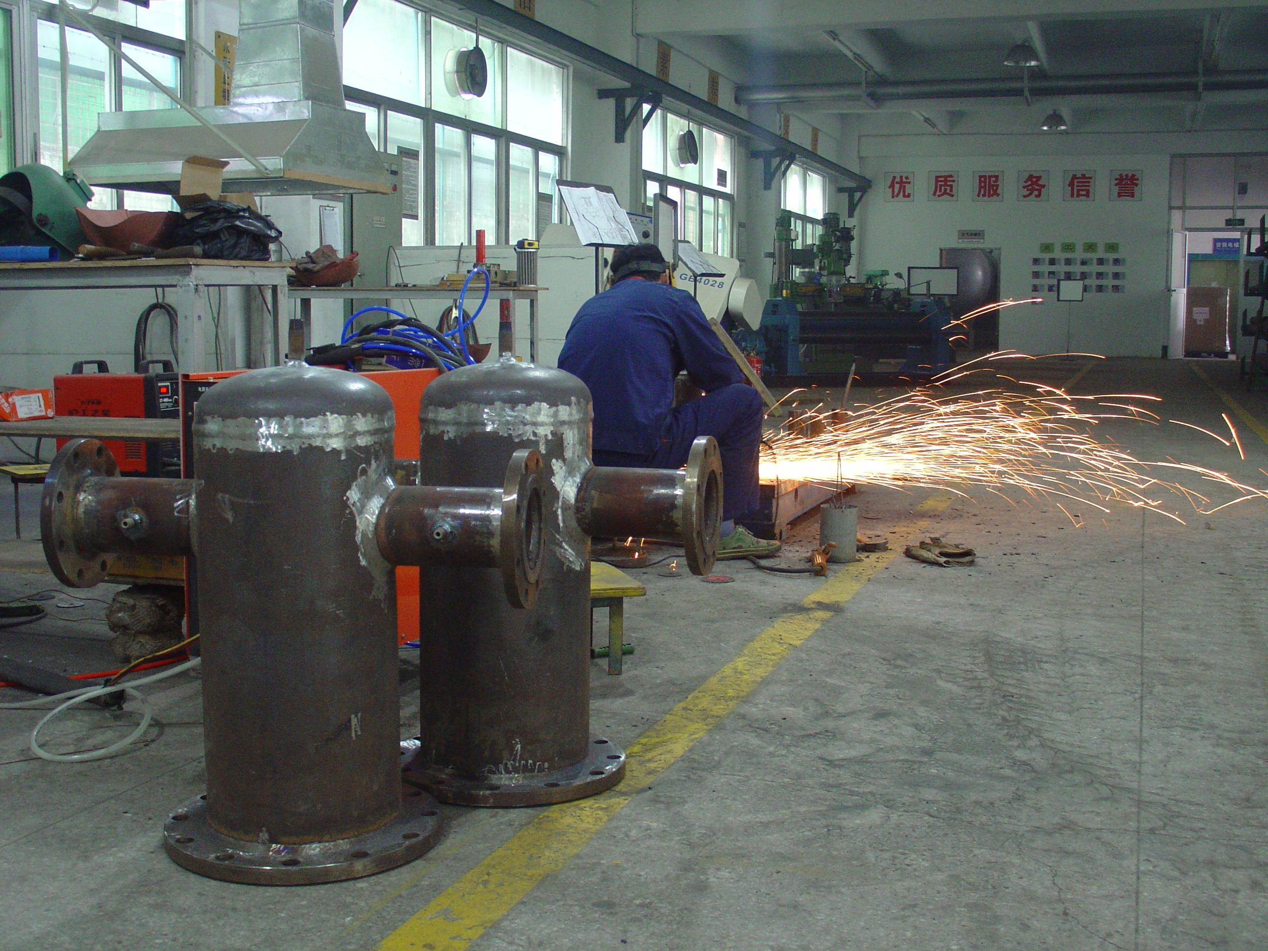 工厂的焊接加工区