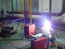 检测线系统在施工中